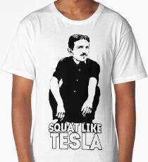Tesla Squating Long T-Shirt