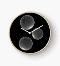 Geometric Neon Space Bubbles Clock