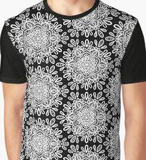 White on black mandalas Graphic T-Shirt