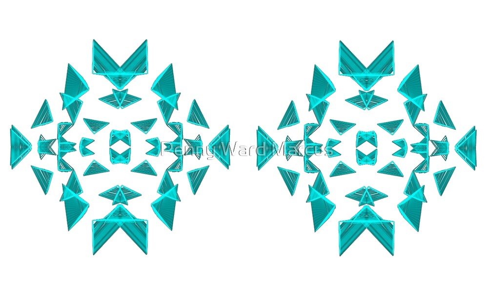 Triangle pattern in teal by Penny Ward Marcus