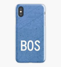 BOS Boston Airport Code Phone Case and Skin iPhone Case/Skin