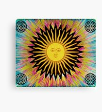 Psychedelic Sun Star Canvas Print
