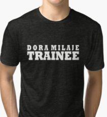 Dora Milaje Trainee Collegiate (White) Tri-blend T-Shirt