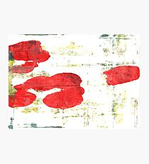 Light brilliant red abstract watercolor background Photographic Print