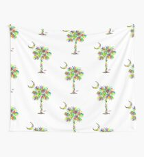 South Carolina is Simply Amazing Palm Tree Wall Tapestry