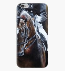 Dressage Horse on Gold iPhone Case