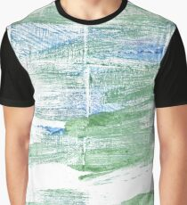 Sea Foam Green abstract watercolor background Graphic T-Shirt