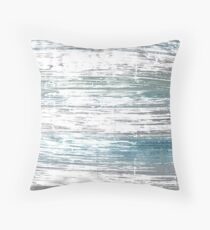 Roman silver abstract watercolor background Throw Pillow