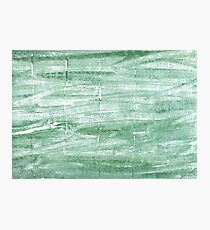 Turquoise green abstract watercolor background Photographic Print