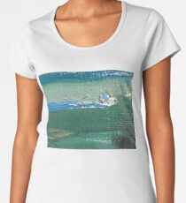 Abstraction series 3 sea horizon life sky and quiet oil on canvas Women's Premium T-Shirt