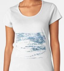Pewter Blue abstract watercolor background Women's Premium T-Shirt