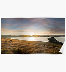 Sunrise over the dam - Middle Earth Poster