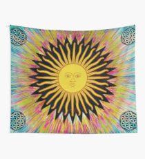 Psychedelic Sun Star Wall Tapestry