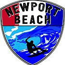 NEWPORT BEACH California Surfer Surfing Surfboard Ocean Beach Vacation 2 by MyHandmadeSigns