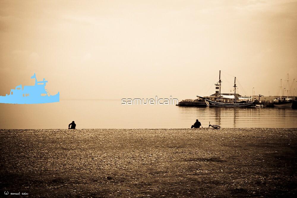 Blue Boat by samuelcain