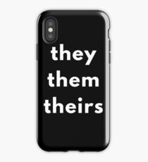 They, Them, Theirs Personal Pronouns iPhone Case