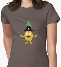 Pineapple Pirate with Hat Rk3o1 Womens Fitted T-Shirt