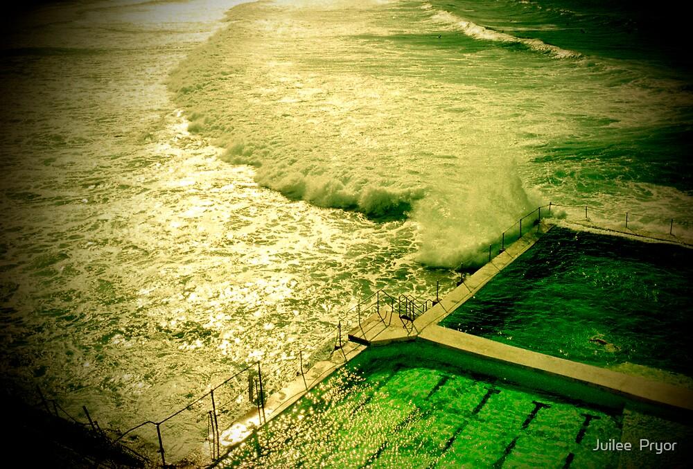 rock pool and wave by Juilee  Pryor