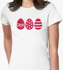 Easter eggs Womens Fitted T-Shirt