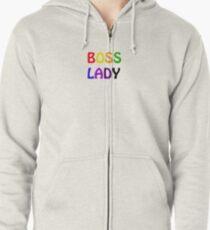 Boss Lady Hoodie mit Reißverschluss