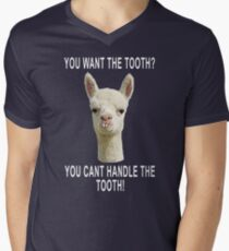 You Can't Handle the Tooth Joke Llama Funny Design T-Shirt