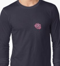 McGregor Mayweather LA Presser - Pink Rose Fuck You Pinstripe Long Sleeve T-Shirt