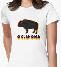 Retro Buffalo Womens Fitted T-Shirt