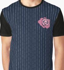 McGregor Mayweather LA Presser - Pink Rose Fuck You Pinstripe Graphic T-Shirt