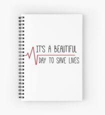 Es ist ein schöner Tag, um das Zitat von Lives Grey zu speichern Spiralblock