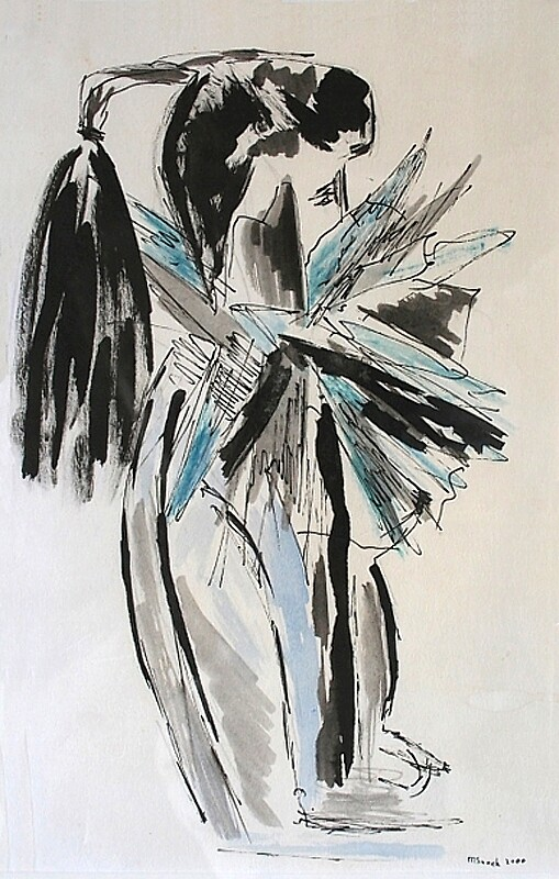 Woman abstract by Marjanne Snoek