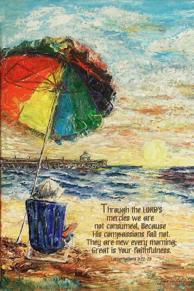 Quot Umbrella Sunrise Lamentations 3 22 23 Quot By Janis Lee