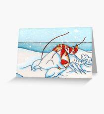 Snowlobstah Greeting Card