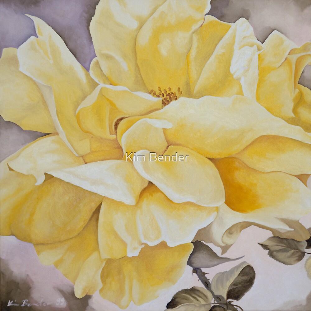 Yellow Rose by Kim Bender