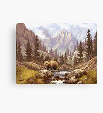 Grizzly Bear Landscape Canvas Print