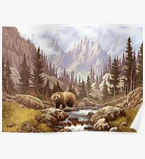 Grizzly Bear Landscape Poster