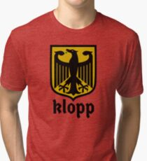German Klopp Liverbird  Tri-blend T-Shirt