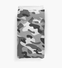 Camouflage Grey Duvet Cover