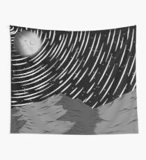 Night Sky Mountains Wall Tapestry