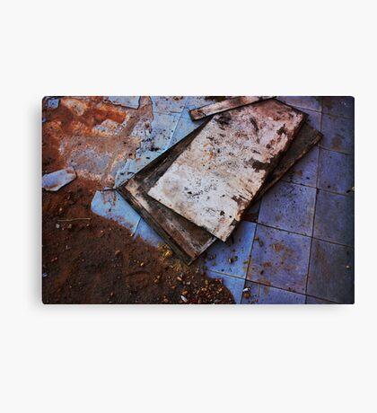 Dirt + Linoleum Canvas Print