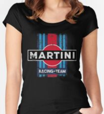 Martini Racing Team Retro Women's Fitted Scoop T-Shirt
