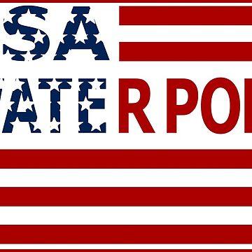 USA water polo flag by Pernik17