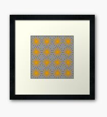 Yellow floral pattern background Framed Print