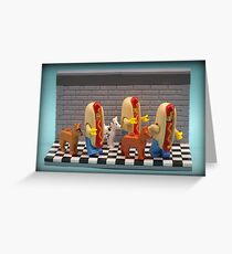 Hot Dogs !  Greeting Card