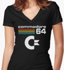 Commodore 64 tshirt Women's Fitted V-Neck T-Shirt
