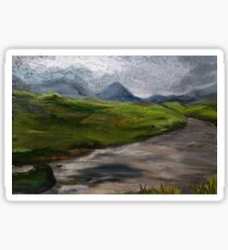 Mountains & Moorland Britain Art Sticker