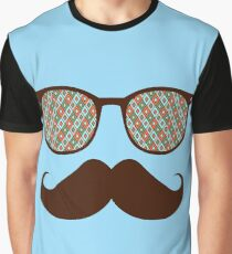 Hipster Glasses And Mustache Graphic T-Shirt