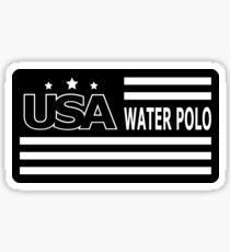 USA WATER POLO FLAG Sticker