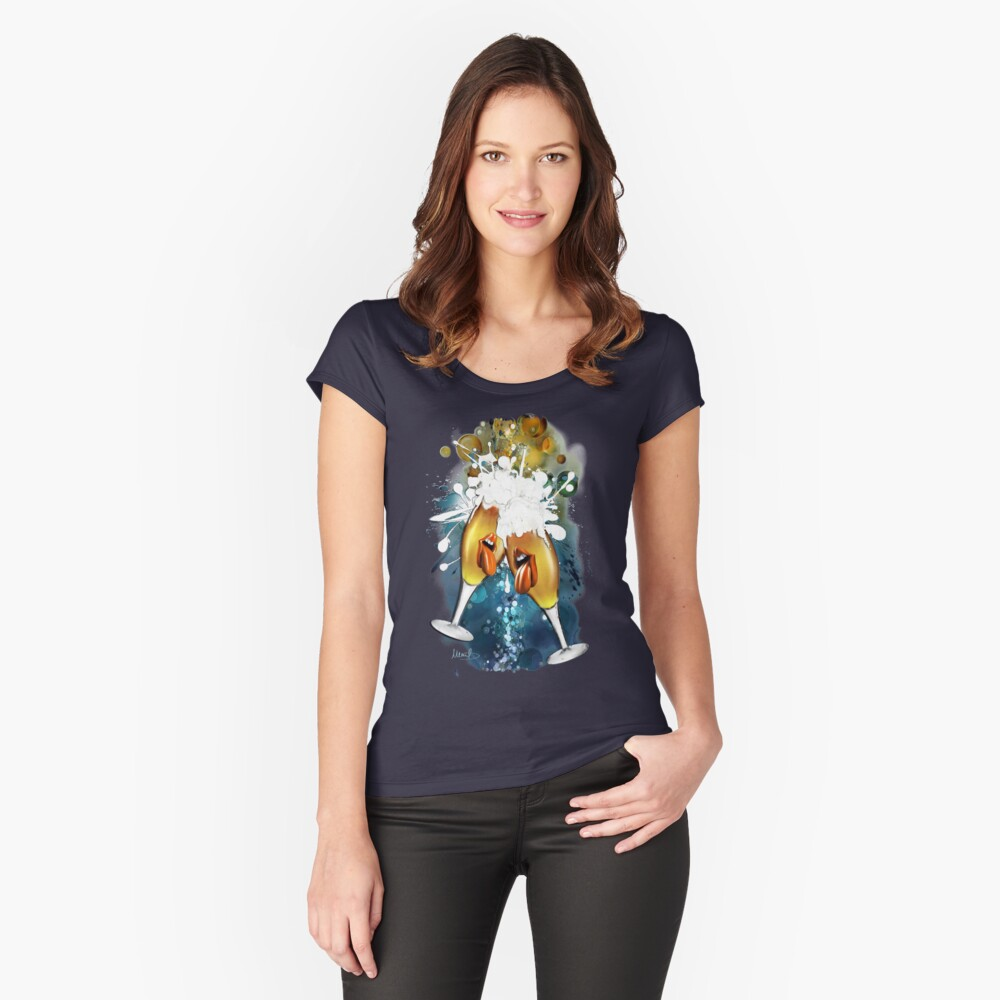 Crazy Beers Women's Fitted Scoop T-Shirt Front