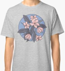 Sakura Branch Pattern - Rose Quartz + Serenity Classic T-Shirt