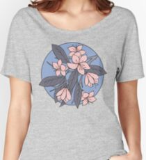Sakura Branch Pattern - Rose Quartz + Serenity Women's Relaxed Fit T-Shirt